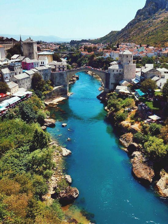 Stari Most Old Bridge Old Town Neretva River Reflection Mostar Bosnia And Herzegovina Traveling Iamonmywaytoeverywhere