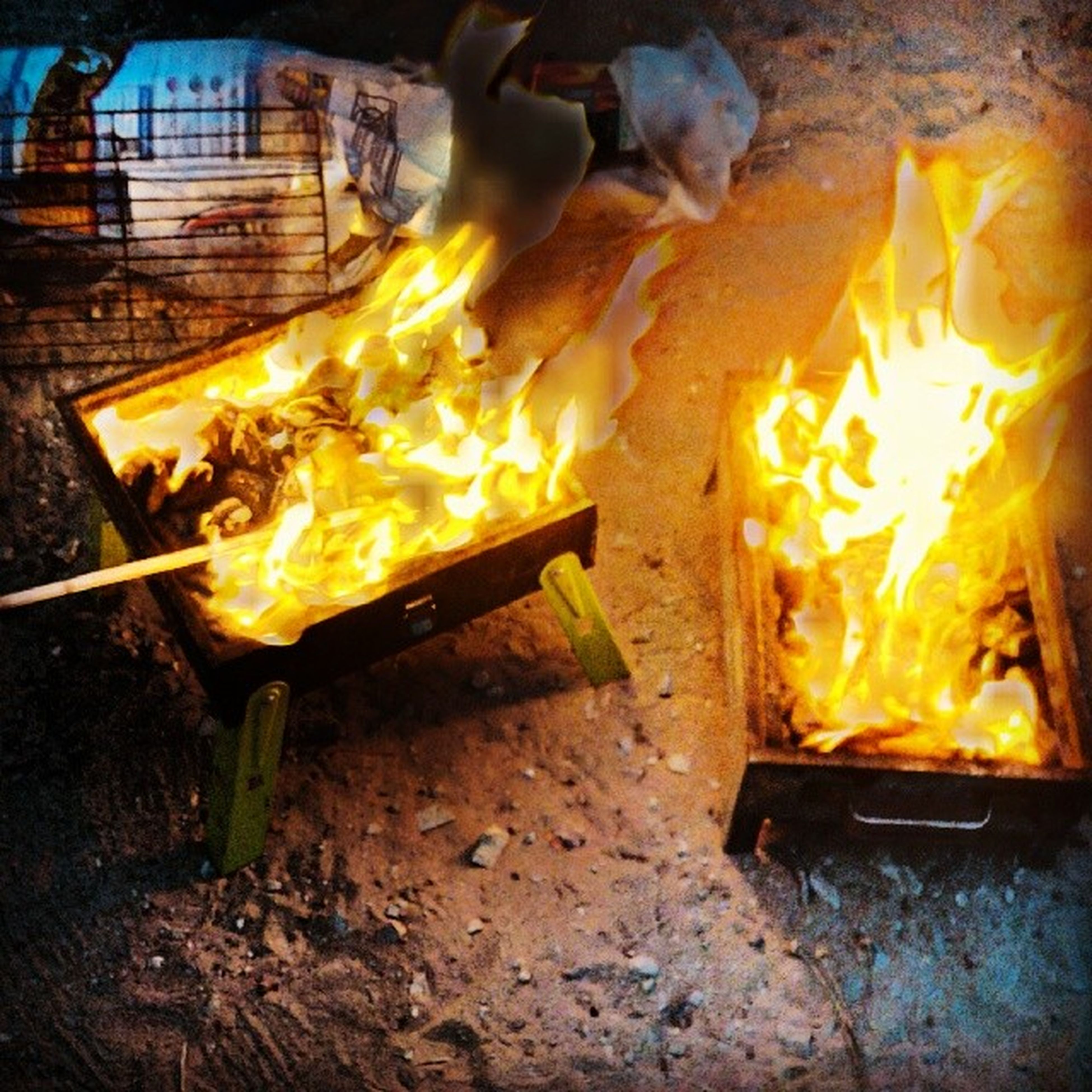 flame, burning, fire - natural phenomenon, heat - temperature, glowing, fire, indoors, night, firewood, close-up, illuminated, candle, orange color, heat, wood - material, bonfire, food, fireplace, food and drink, metal