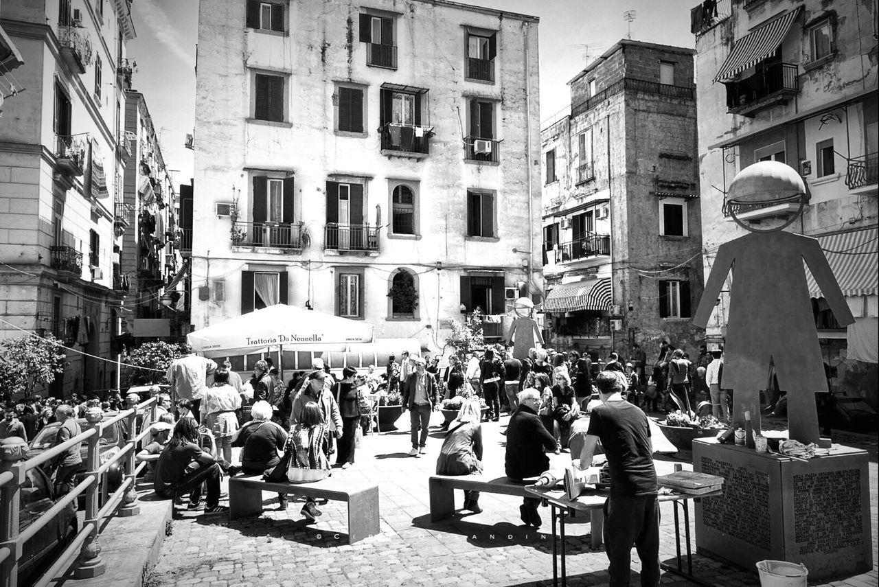 Napoli, quartieri Spagnoli Large Group Of People Building Exterior Architecture Built Structure City Life Real People City Women Men Crowd Street Outdoors Day Sitting Adult People Adults Only Travel Destinations Napoli Napoli ❤ Naples Tourism Lifestyles Napoliphotoproject City