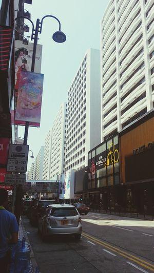 Street Photography Buildings & Sky EyeEm HongKong Sunnyday Views From The Sidewalk Between Buildings Hanging Out