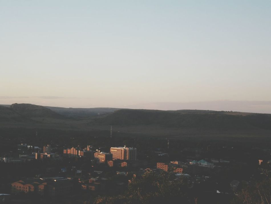 Golden hour shots Sunset Down Town Maseru