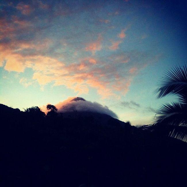 A rare glimpse of Arenal  Volcano