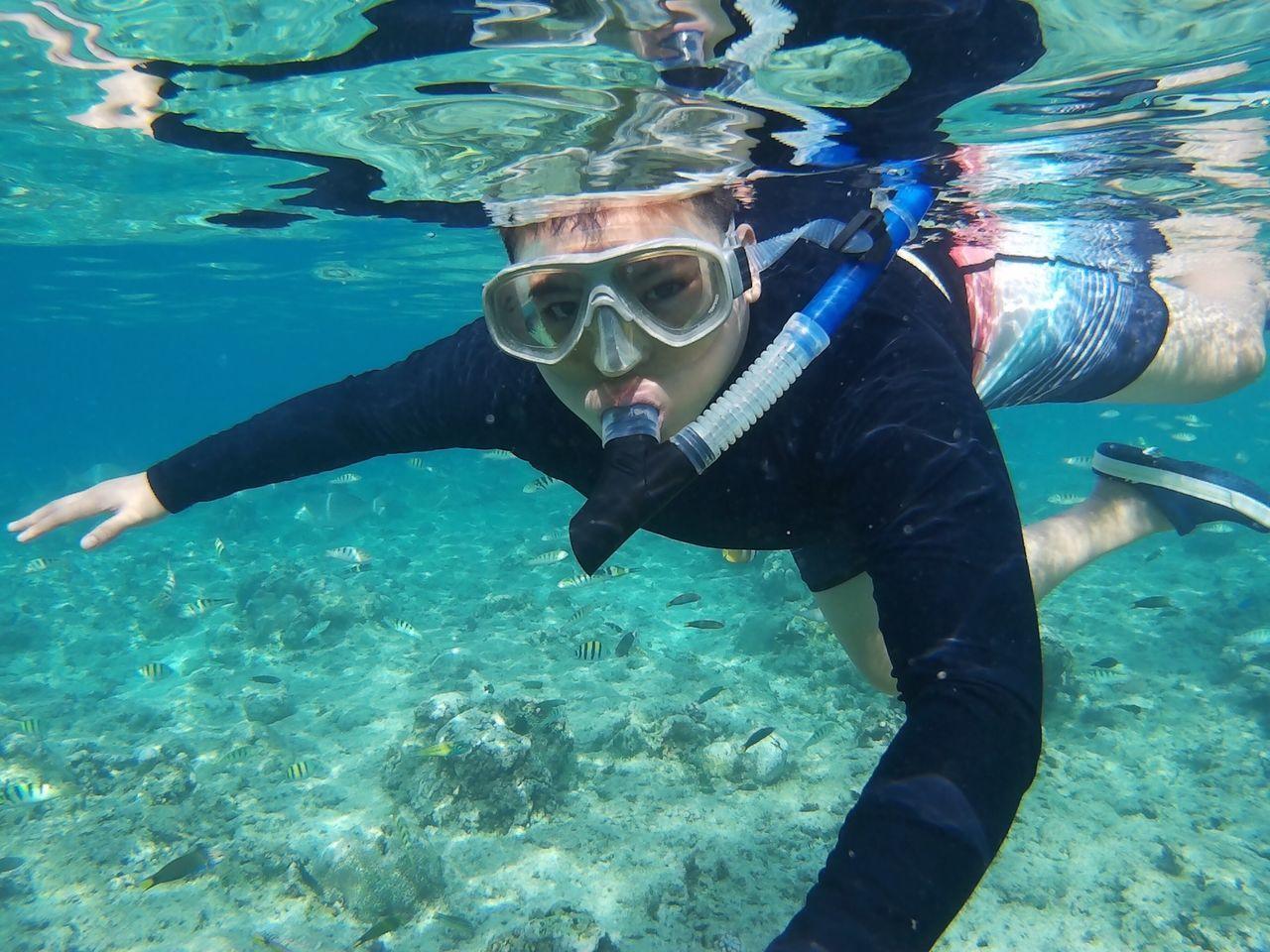 Panglao Crocs Underwater SJCAM Fishes Happiness LivingLife Beautiful Creation Seatour Snorkling