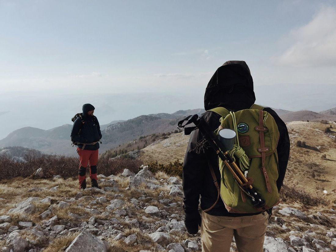 """Zavizan-Mexican Standoff"", Veliki Zavizan (alt. 1676m), Croatia, 2017. Veliki Zavizan Zavizan Velebit Velebit Mountain Mountain Hiking Backpack Standoff Mexican Standoff Lifestyles Adventure Hiker Standing Confrontation"