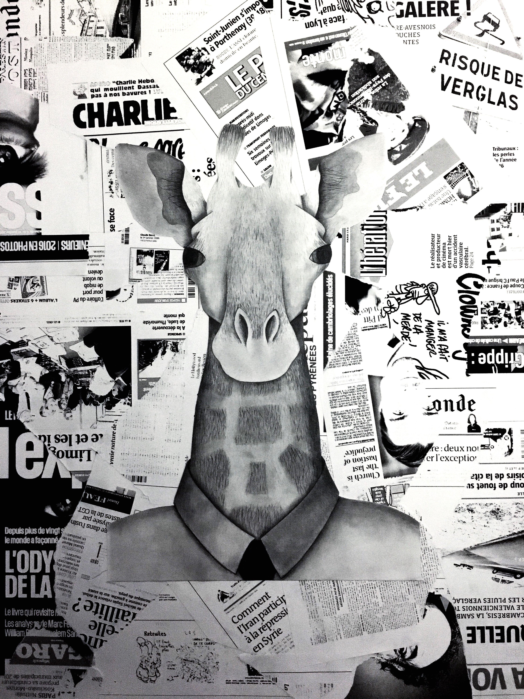 French Giraffe Drawing Art ArtWork Composite Image First Eyeem Photo