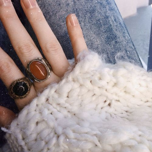 Hand Rings Sweater Sweaterweather White Jeans Close-up Details Ootd Outfit