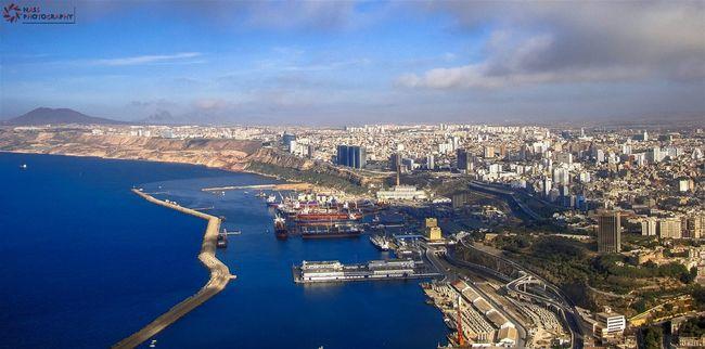 Welcome to my city Oran  Wahran My City View From Santa Cruz Beautiful Day Nice View Sky And Sea Algeria