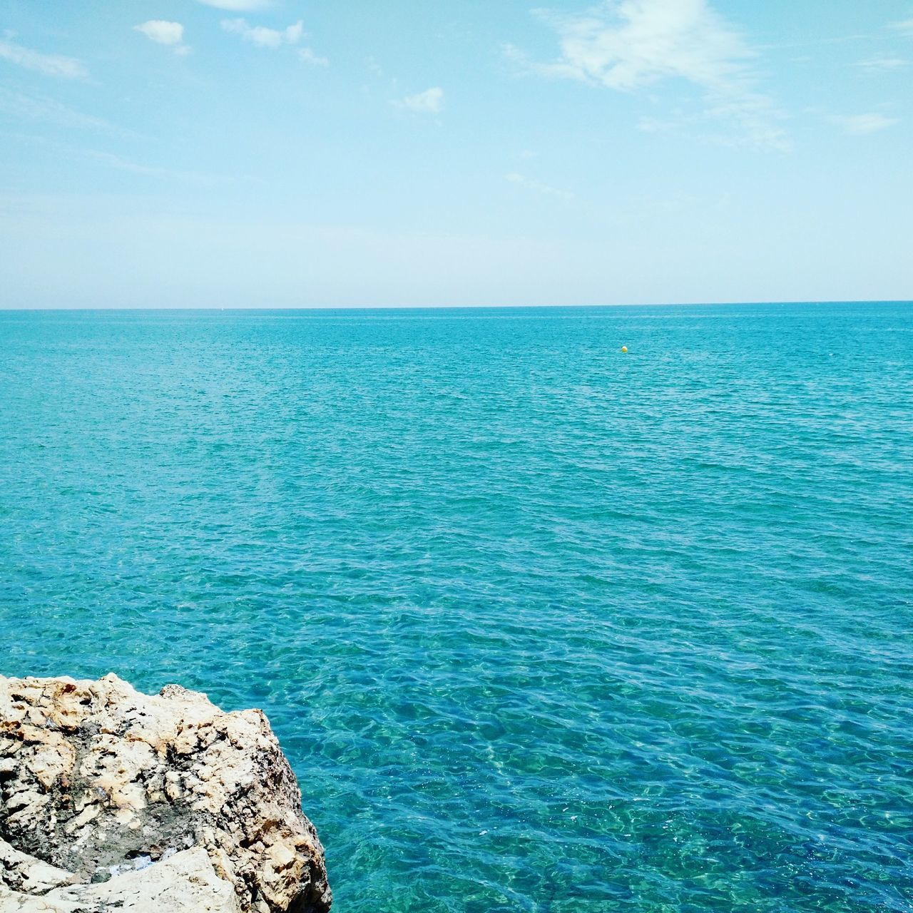 Sea Turquoise Colored Blue Horizon Over Water Water Beauty In Nature Beach Travel Destinations Idyllic Scenics Nature Sky No People Outdoors Tranquility Tranquil Scene Day Barcelona, Spain Sitges Barcelona España