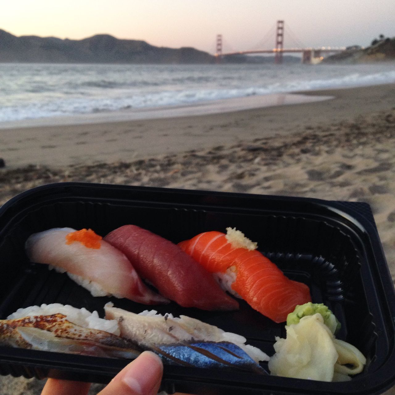 Sushi and sunsets Sushi Sunset San Francisco Golden Gate Bridge