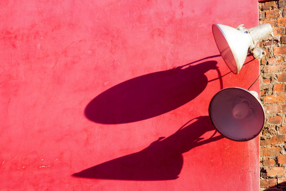 Lamp Red Security Shadow Shadow And Light Spotlight Urban Wall