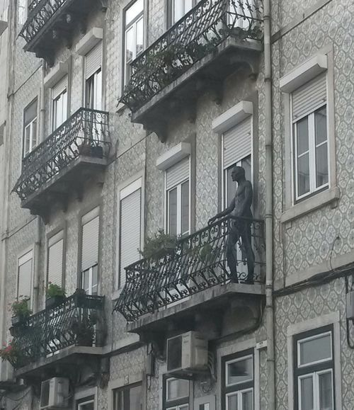 Architecture Built Structure Window Statue Statue In The City Statue In Balcony Balcony View City Life Lisboa Portugal Art Is Everywhere