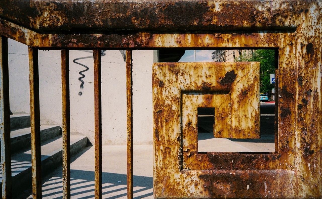 no people, rusty, indoors, day, built structure, architecture, close-up