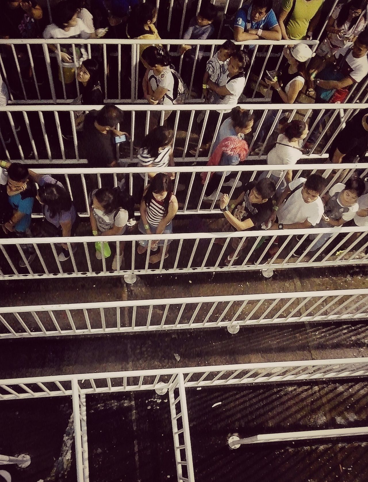 Eyeem Philippines Half Full, Half Empty LINE Men Messy Opposite Directions People Are People People Around You Peoplephotography Shadows & Lights Top View Waiting For The Rain Waiting In Line White Gate Women The Street Photographer - 2017 EyeEm Awards