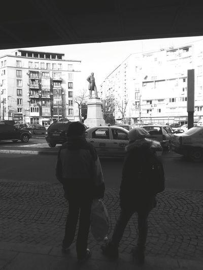 Mihail Kogalniceanu Square Bucharest Capital City Blackandwhite Photography Station Somepeoplewait