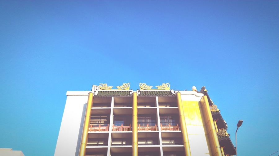 Buildings & Sky Buildingstyles Building Chinese Building Blue Yellow