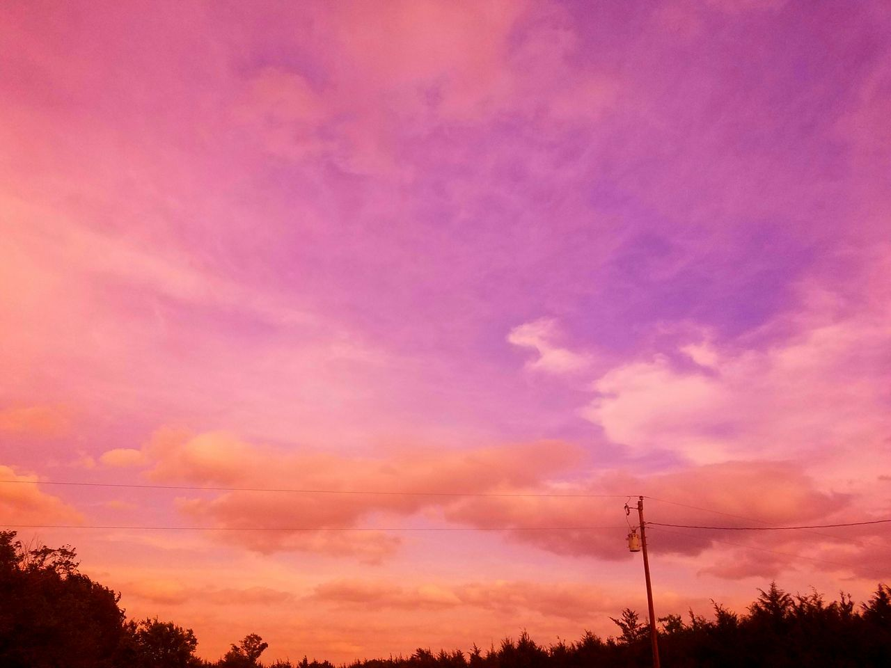 Double filtered double stacked graduated and full filter, red, orange NoEdits  Sunset Pink Color Cloud - Sky Dramatic Sky Purple Silhouette No People Sky Tree Scenics Outdoors Electricity Pylon Multi Colored Nature Beauty In Nature Day Break The Mold Art Is Everywhere