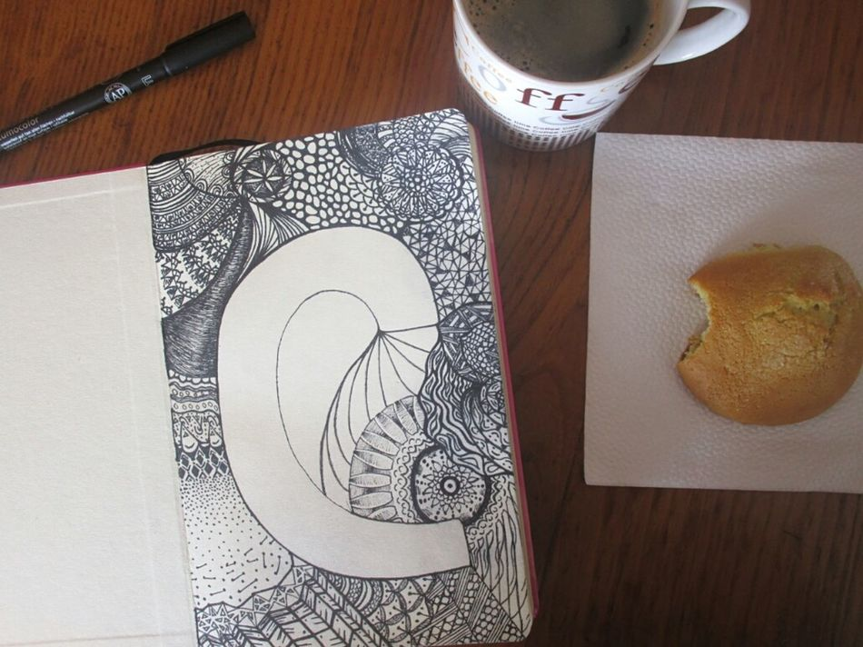 Saturday + Coffee = Inspiration ✒ Zentagle Zentangle Art Myartwork Drawing Coffee Break Coffee Inspiration Biscuit Food And Drink Relaxing Time Saturday Day Getting Inspired