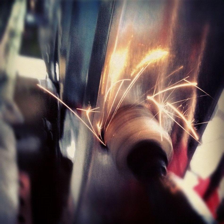 Powertools Sparks Lights Slowshutter work construction