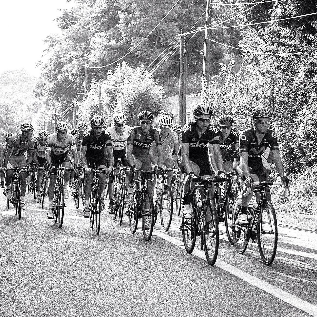 "Photo of ""Le tour de France"" taken during the last stage. Nikon d700 - iso 560 - 1/320 - F/5 50mm (black and white in LR 5) Eye4photography  Blackandwhite EyeEm Best Shots EyeEm Best Shots - Black + White"