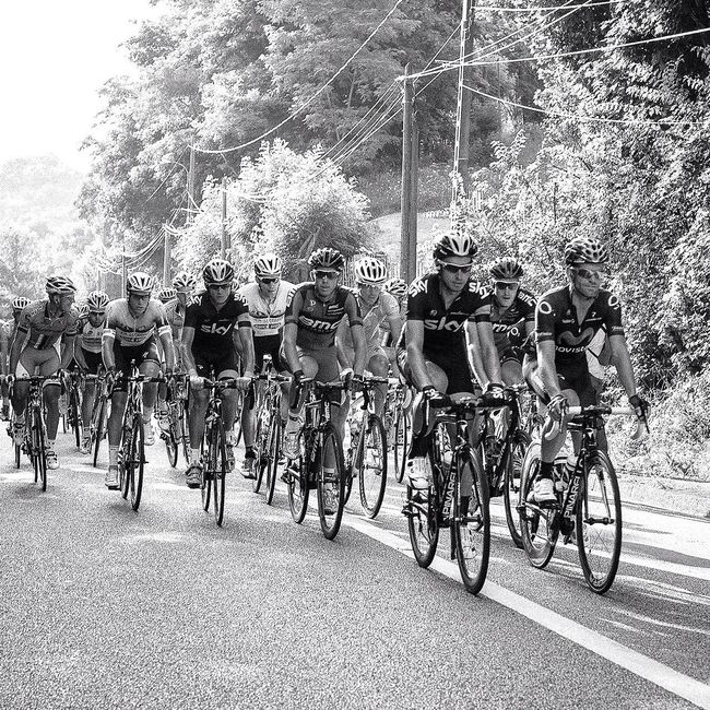 """Photo of """"Le tour de France"""" taken during the last stage. Nikon d700 - iso 560 - 1/320 - F/5 50mm (black and white in LR 5) Eye4photography  Blackandwhite EyeEm Best Shots EyeEm Best Shots - Black + White"""
