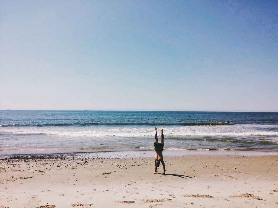 Beautiful stock photos of yoga, Balance, Beach, Beauty In Nature, Clear Sky