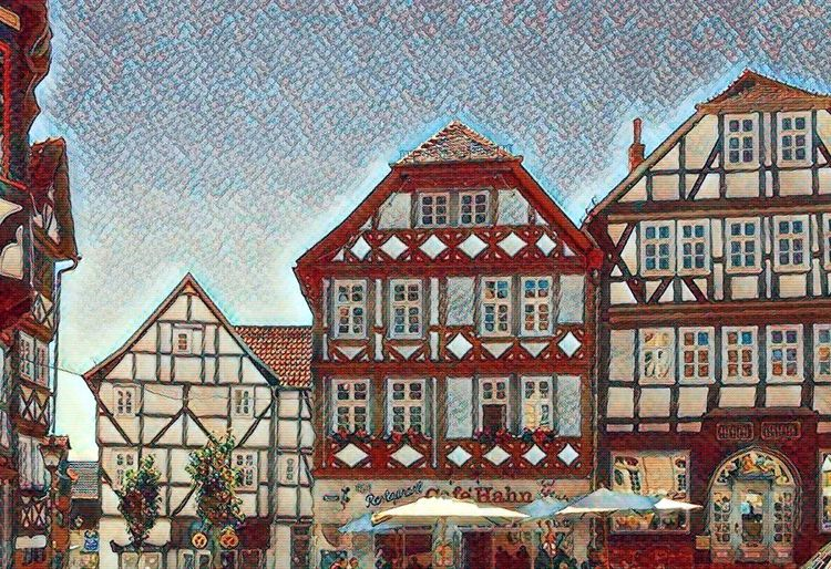 Fritzlar - Germany Summer 2017 Make It Old Old Town Summer 2017 Architecture Building Exterior Built Structure City Foto Effect Fritzlar House No People Outdoors Residential Building Roof Sky Summer 2017 Window