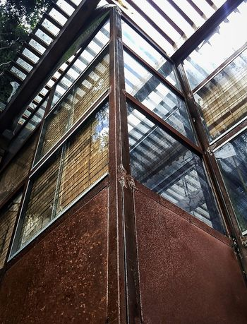 Low Angle View Architecture Window Built Structure Day No People Oxidation Metal Glass - Material