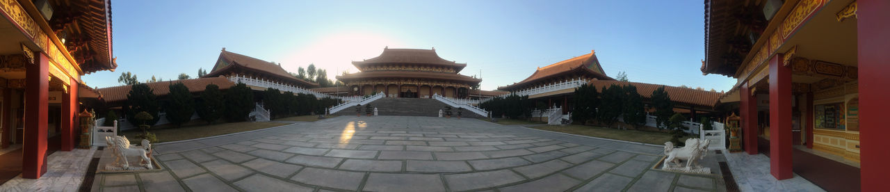 Awesome, clean photo of a Buddhist temple taken in the start of morning. Architecture Buddist Temple Day Famous Place Foguangshan No People Panorama Temple