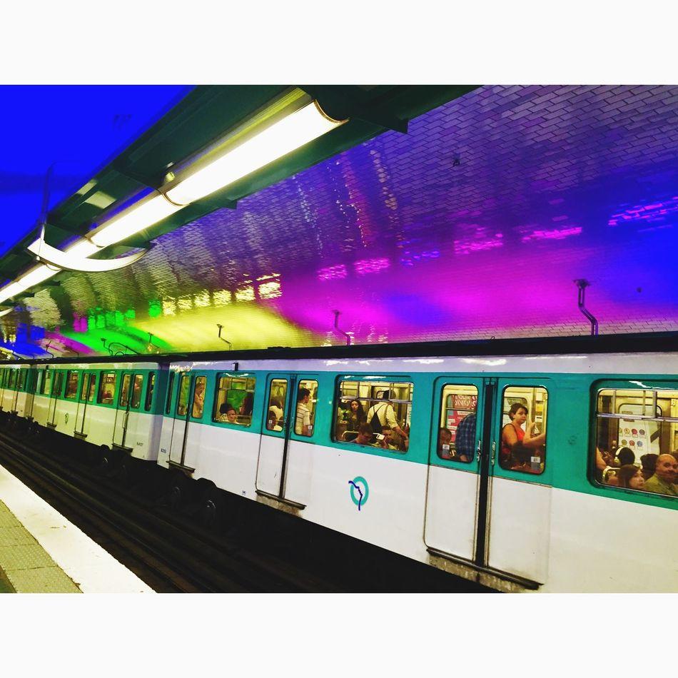 Lights in the Underground in Paris