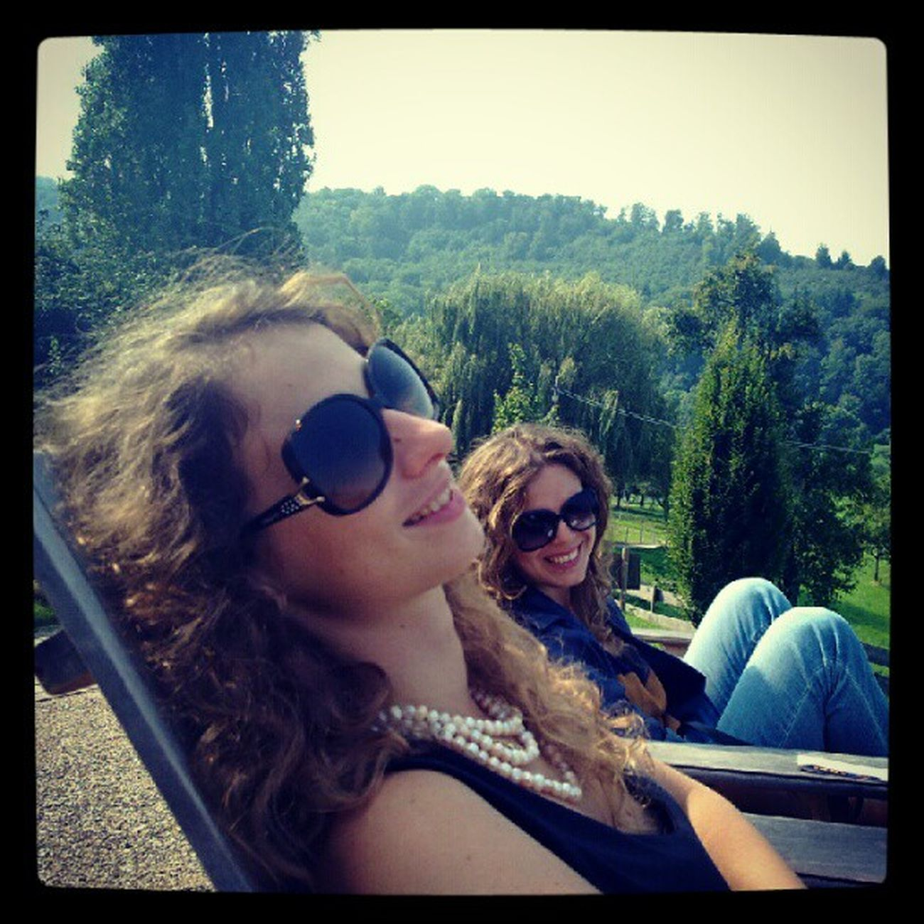 Sunny Autumn day with my besties at Jesuitenschloss Freiburg Germany
