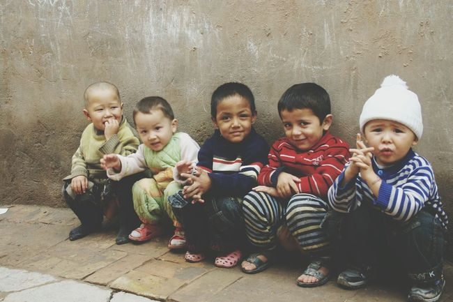 Togetherness Looking At Camera Love Childhood Boys Innocence Capture The Moment Child Innocent Eyes Children Children Of The World Children Photography Xinjiang Of CHINA Beautiful Children Innocence Friendship Bonding Toddler