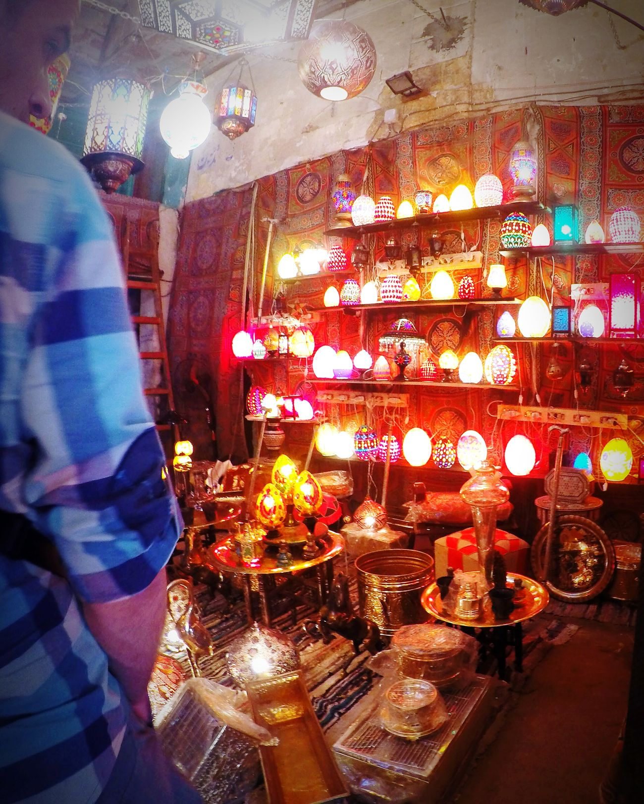 Illuminated Old Almoez Street Khanelkhalili Travel Destinations Cairo Myegypt Egyptian Egypt Lamps Handmade Colors Lights Beautiful
