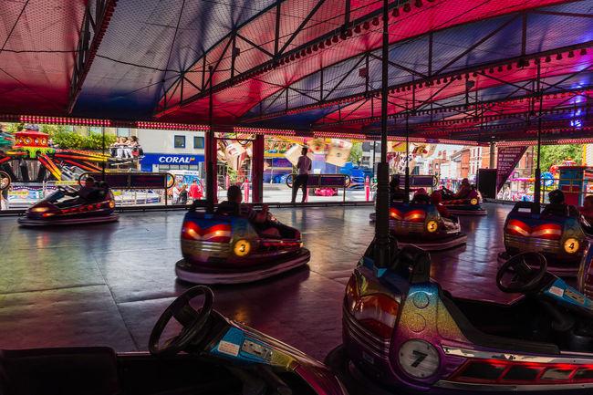 The dodgems City City Life Dodgems Fair Illuminated Lancashire Leisure Activity Lifestyles
