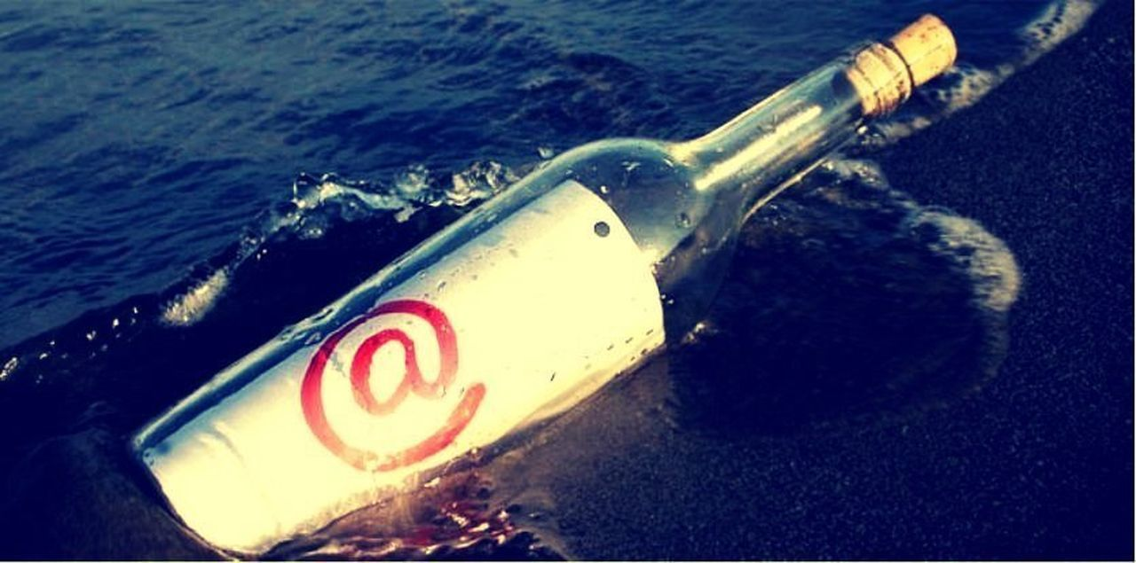Digital Message In A Bottle Email Message In A Bottle
