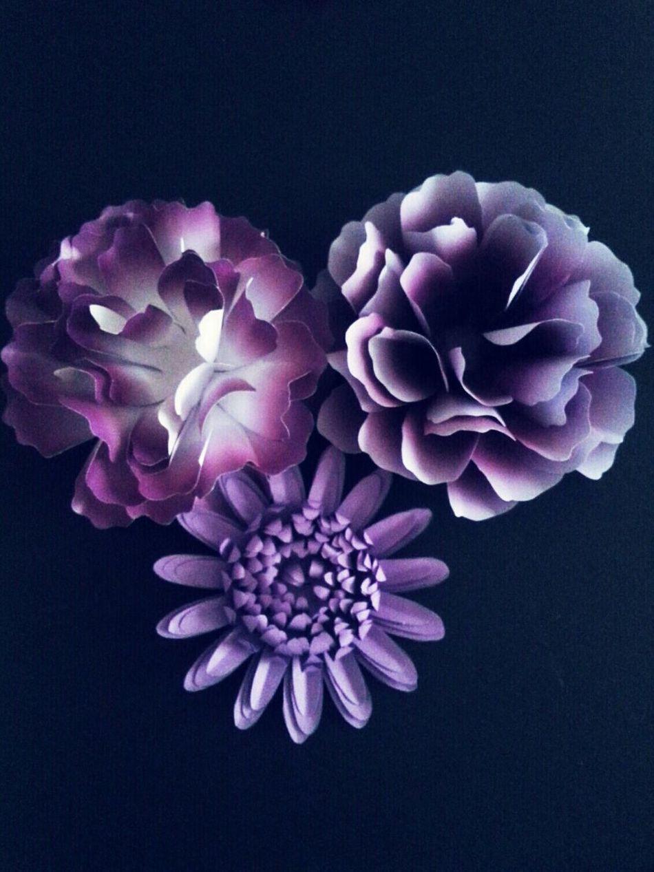 Paper Flower Handmade Crafts Purple