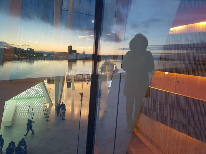 Norge Oslo Winter Nofilter FROZENFJORD Backgrounds Architecture Façade Light And Shadow Scandinavia Archilovers Sun Architecturephotography Oslo Opera House Fjord View Snøhetta ColdLove Shades Of Winter One Person Reflection People Sunset Adult Water Sky Cloud - Sky Outdoors Night