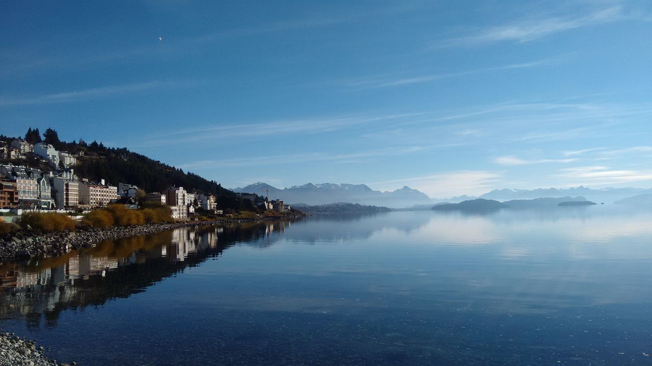 Astronomy Bariloche Beauty In Nature Blue Cloud - Sky Day Idyllic Lake Mountain Mountain Range Nature No People Outdoors Patagonia Reflection Reflejos Reflejos En El Agua Scenics Sky Tourism Tranquil Scene Tranquility Travel Destinations Tree Water