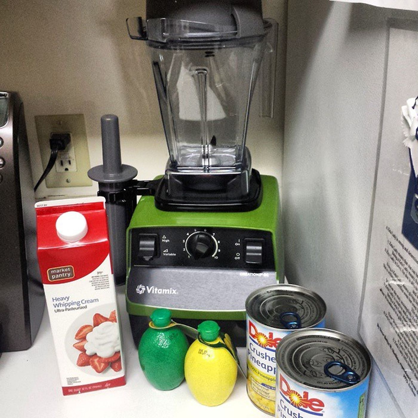 Shh don't tell Disney DisneyWorld Waltdisney but I'm about to go in on some Dolewhip Dole Vitamix Blender Makeityourself