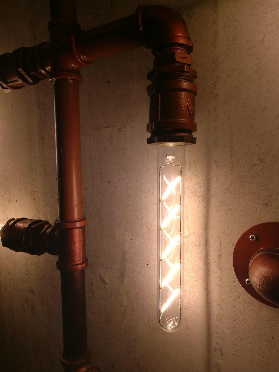 illuminated, indoors, lighting equipment, close-up, no people, technology, day