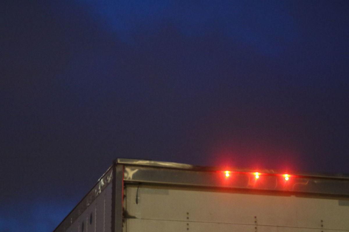 Brake Lights Illuminated Night No People Outdoors Shining Signal Lights Sky Three Lights Truck