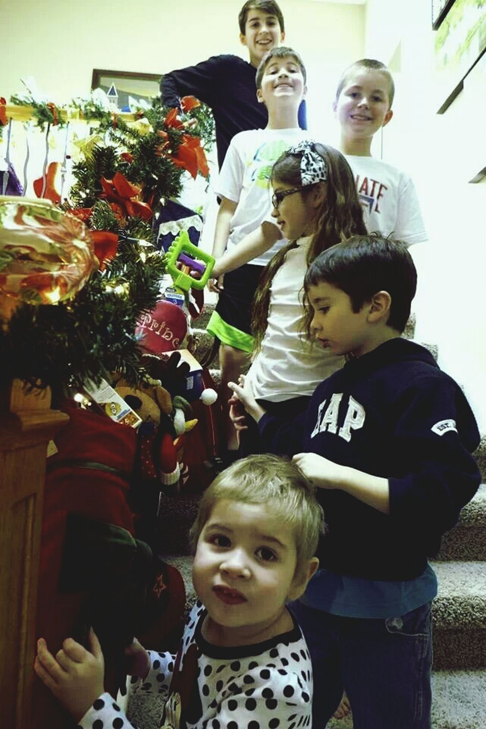 My grandkids were beside themselves to peek in thei stockings!