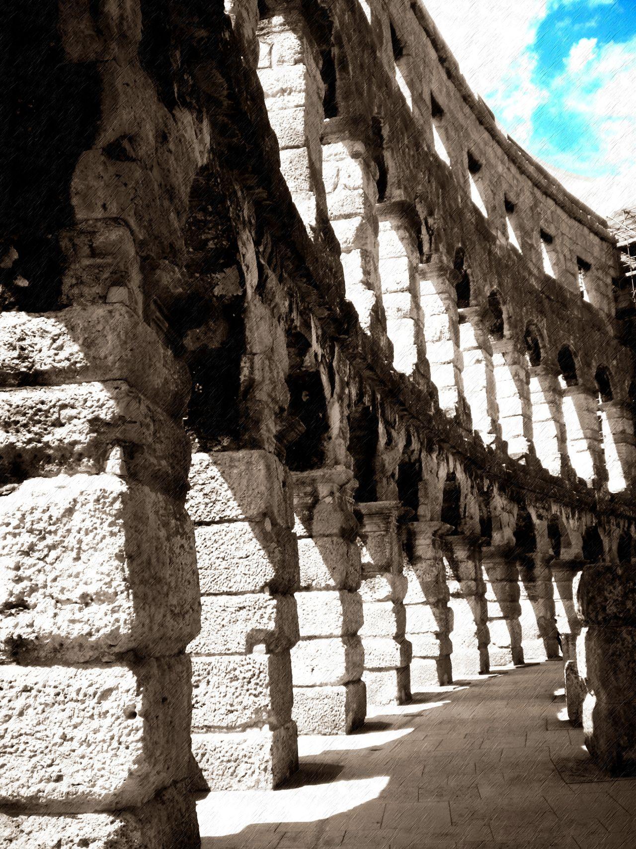 Croatia Shadow Sunlight Coloseum Antient