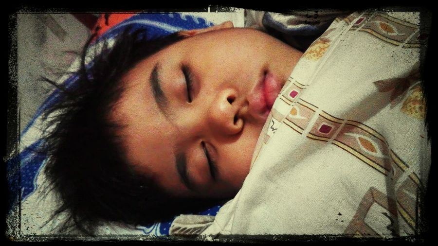 The Calmness Within my son sleeping