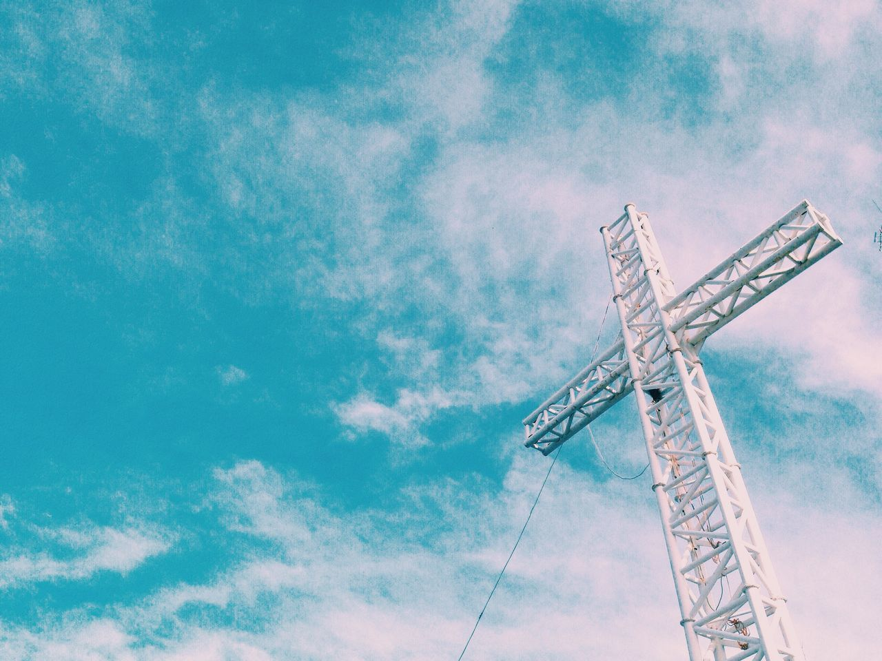 low angle view, day, sky, cloud - sky, outdoors, no people, nature