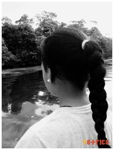 Little Sis 😊 Braided Hair Enjoying Life Gone Fishing Black And White Monchrome Retrica Islandgirl Prettygirl