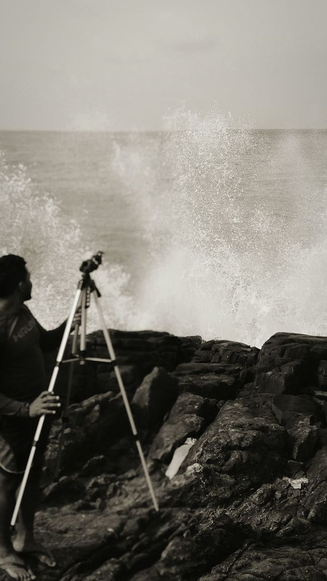 Cinema In Your Life From My Point Of View Black And White Waves, Ocean, Nature Waves Crashing Waves And Rocks Cliff Tripod At Its Finest Action Shot  Layering Adventure Photography Photography In Motion