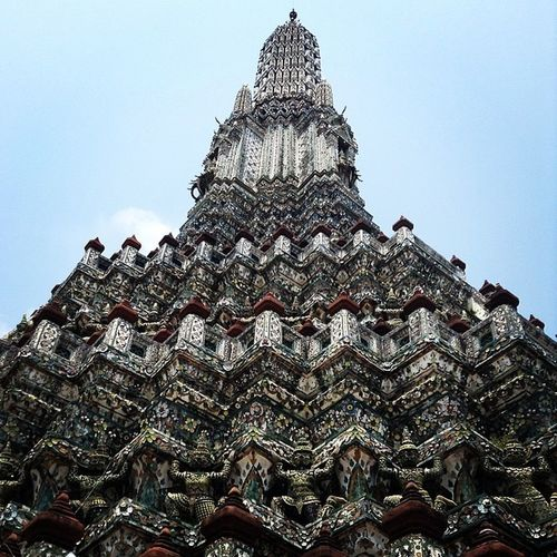 Detailed to the smallest bit. Watarun Temple Buddhism Pagoda Chaophraya Th Thailand Places Instaios Insta_awe Instalike Instalove InstaPlace Traveller Detailed Batintin Happybatins Igers Ignation Igersmanila