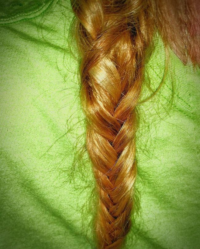 It's Me Hair Photography Hair Braid Fishtail Braid Bright Green Shirt Sun Kissed Hair My Hair Braided Hair Messy Hair Messy Hair Dont Care Messy Braid Showing Imperfection Let Your Hair Down
