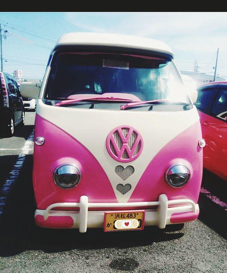 Millennial Pink Pink Color Kombi Car Rosa Veichle Cutecar