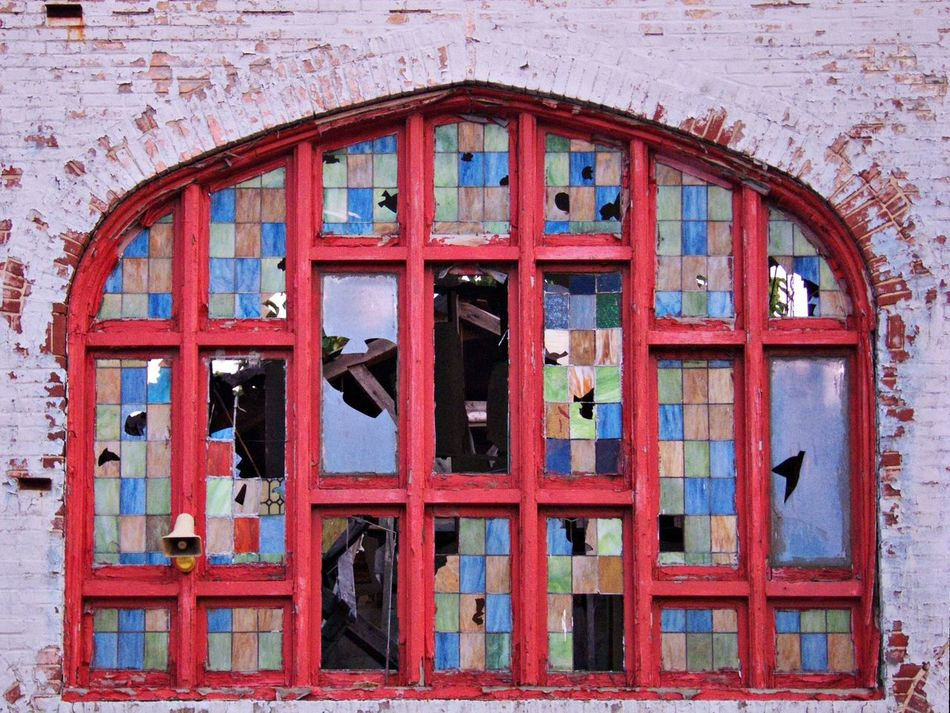 painted windows. Philadelphia Colour Of Life Broken Glass Red Industrial Landscapes Run Down Beauty Of Decay Multiple Color Architecture Architectural Detail Urban Geometry Windows